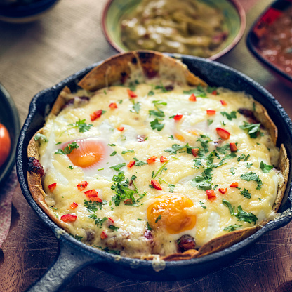 skillet eggs and sausage