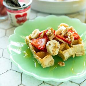 breakfast toast strips with yogurt dip